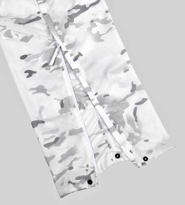 New Anke zippers have been added to the pants in the Overwhites now camo line from Wild Things Gear.