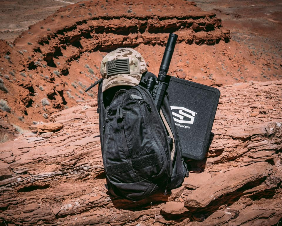 Shotstop armor plate backpack